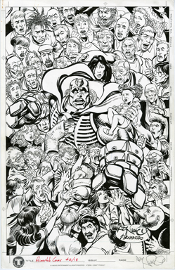 ART NICHOLS/MIKE BARREIRO - LEONARD NIMOY'S PRIMORTALS #2 COVER ORIGINAL ART