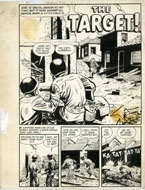"JACK SPARLING - WARFRONT #28 COMPLETE 7-PAGE STORY ORIGINAL ART ""THE TARGET"""