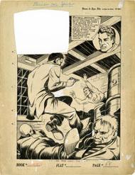 LUIS CAZENEUVE - SPEED COMICS #24 COMPLETE 6-PG SPEED TAYLOR STORY ORIGINAL ART
