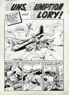 AL AVISON / WARREN KREMER - WARFRONT #30 COMPLETE 5-PAGE STORY ORIGINAL ART