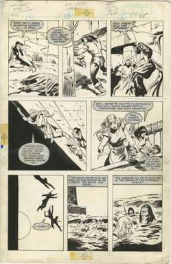 JOHN BUSCEMA - CONAN MOVIE SPECIAL #1 PAGE 25 ORIGINAL ART REPTILE WORSHIPERS