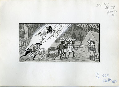 ARNOLD ROTH - TRUMP #2 MOVIES: JUNGLE EPIC ORIGINAL ART
