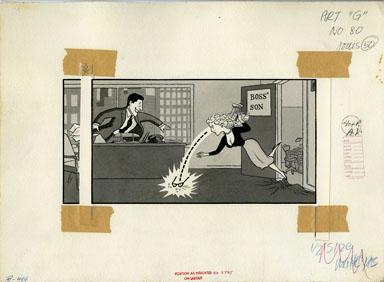 ARNOLD ROTH - TRUMP #2 MOVIES: ROMANCE ORIGINAL ART