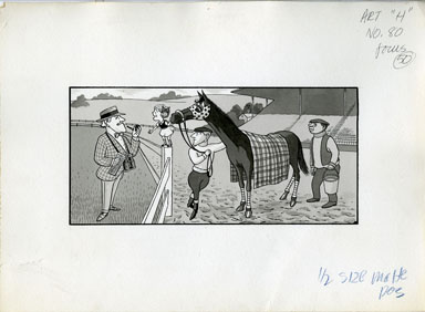 ARNOLD ROTH - TRUMP #2 MOVIES: KID & HER HORSE ORIG ART