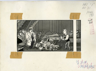 ARNOLD ROTH - TRUMP #2 MOVIES: FIGHT GAME ORIGINAL ART