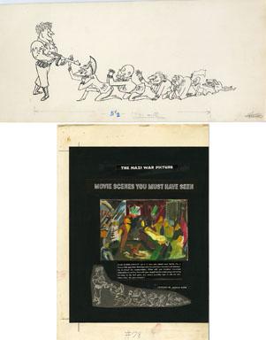 ARNOLD ROTH - TRUMP #2 MOVIES: NAZI COMMANDANT ORIG ART