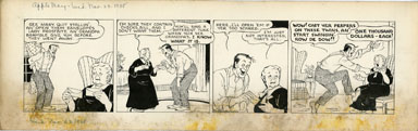 MARTHA ORR - APPLE MARY DAILY ORIG ART 11-23-38  CHECKS