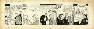 MARTHA ORR - APPLE MARY DAILY ORIGINAL ART 8-14-37