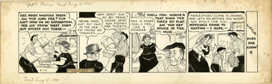 MARTHA ORR - APPLE MARY DAILY ORIGINAL ART 8-18-37