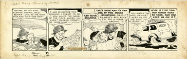 MARTHA ORR - APPLE MARY DAILY ORIGINAL ART 8-19-37