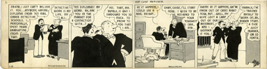 H.J. TUTHILL - THE BUNGLE FAMILY DAILY COMC STRIP 1-19-42  ACE CASE REFUSED