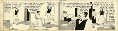 H.J. TUTHILL - THE BUNGLE FAMILY DAILY COMC STRIP 1-21-42 OLD GRADUATE