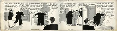 H.J. TUTHILL - THE BUNGLE FAMILY DAILY COMC STRIP 1-23-42 ANSWERS MADE-TO-ORDER