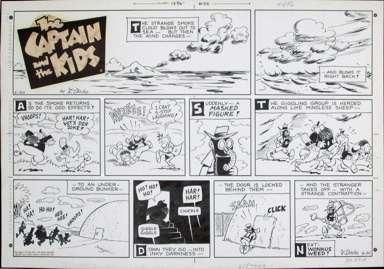 JOHN DIRKS - CAPTAIN & KIDS SUNDAY 6-20-71 STRANGE SMOKE