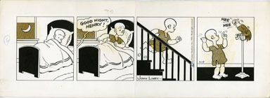 JOHN LINEY - HENRY DAILY COMIC STRIP ORIG ART 3-17-73