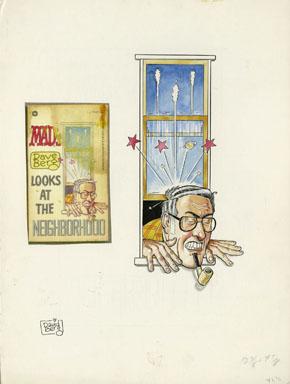 DAVE BERG - MAD DAVE BERG LOOKS @ NEIGHBORHOOD COVER ART