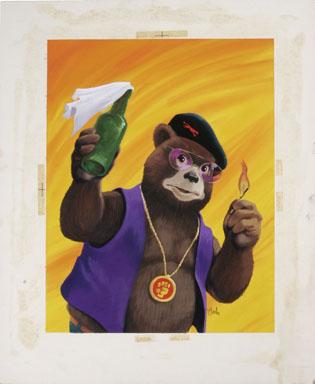 BOB CLARKE - MAD SPECIAL #4 SMOKEY BURN POSTER ORIG ART
