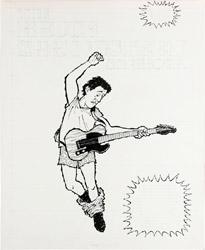 "PAUL COKER - MAD #271 COMPLETE 3-PG STORY ""BRUCE SPRINGSTEEN SONGBOOK"" ORIG ART"