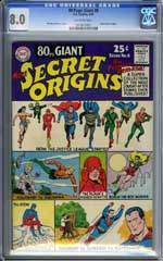 80 PAGE GIANT #8 (1965) CGC VF 8.0 OW Pages - MORE SECRET ORGINS