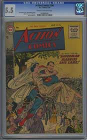 ACTION COMICS #206 (1955) CGC FN- 5.5 COW Pages - SUPERMAN & LOIS LANE