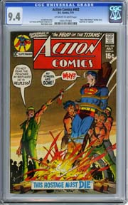"ACTION COMICS #402 (1971) CGC NM 9.4 ""Superman vs. Supergirl"" AND MORE!!!"