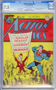 ACTION COMICS #80 (1945) CGC VF-  7.5 OWW Pages - MISTER MXYZTPLK  Appearance