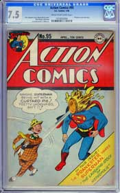 ACTION COMICS #95 (1946) CGC VF- 7.5 COW Pages - PRANKSTER - SUPERMAN