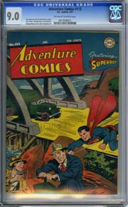 ADVENTURE COMICS #112 (1947) CGC VF/NM 9.0 OWW pages SUPERBOY - GEORGE PAPP Art