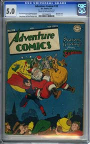 ADVENTURE COMICS #113 (1947) CGC VG/FN 5.0 SUPERBOY CHRISTMAS Cover by STAN KAYE