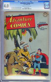 ADVENTURE COMICS #115 (1947) CGC VG 4.0 COW Pages - SUPERBOY