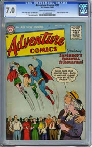ADVENTURE COMICS #217 (1955) CGC FN/VF 7.0 ORIGIN of SUPERBOY Retold