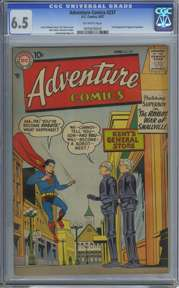 ADVENTURE COMICS #237 (1957) CGC FN+ 6.5 OW Pages- SUPERBOY - SMALLVILLE