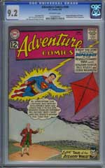 ADVENTURE COMICS #296 (1962) CGC NM- 9.2  OW Pg- WASHINGTON - REVERE - FRANKLIN