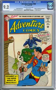 ADVENTURE COMICS #308 (1963) CGC NM- 9.2 OWW pgs 1st Appearance  LIGHTNING LASS