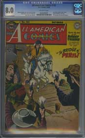 ALL-AMERICAN COMICS #102 (1948) CGC VF 8.0 OW Pgs - GREEN LANTERN - BLACK PIRATE
