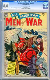 ALL-AMERICAN MEN OF WAR #12 (1954) CGC VF 8.0 OWW Pages - GIL KANE - RUSS HEATH