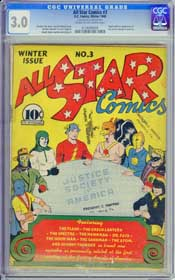 ALL STAR COMICS #3 (1940) CGC VF- 7.5 COW Pg - ORIGIN JUSTICE SOCIETY OF AMERICA