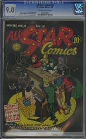 ALL STAR COMICS #19 (WINTER, 1943) CGC VF/NM 9.0 OFF-WHITE TO WHITE Pages