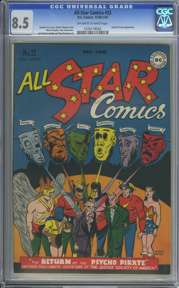 ALL STAR COMICS #32 (1946-47) CGC VF+ 8.5 OWW Pages - PSYCHO PIRATE Appr.