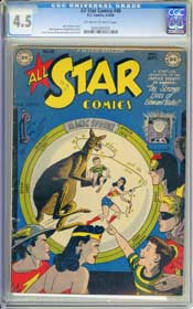ALL STAR COMICS #48 (1949) CGC VG+ 4.5 OWW Pages