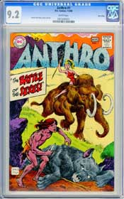 ANTHRO #1 (1968) CGC NM- 9.2 WHITE Pages - TWIN CITIES - HOWIE POST