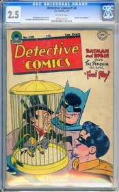 DETECTIVE COMICS #120 (1947) CGC GD+ 2.5 OW Pages - PENGUIN - BATMAN - ROBIN