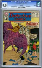 DETECTIVE COMICS #304 (1962) CGC VF/NM 9.0 SAVANNAH Pedigree - CLAYFACE appr