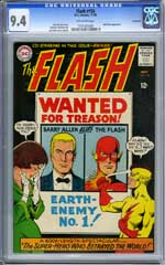 FLASH #156 (1965) CGC NM 9.4 OW pg SAVANNAH Pedigree