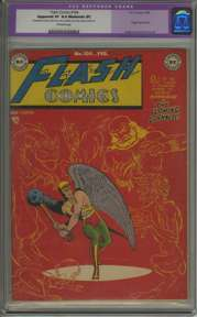 FLASH COMICS #104 (1949) CGC AP/VF 8.0 OW Pages - ORGIN - SCARCE LAST ISSUE