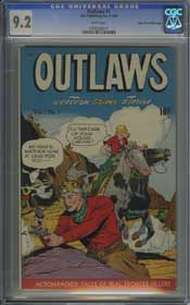 OUTLAWS #1 (1948) CGC NM- 9.2 WHITE Pages - MILE HIGH - ONLY HIGHEST GRADED!