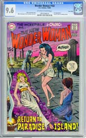 WONDER WOMAN #183 (1969) CGC NM+ 9.6 OWW - LEADING COMICS - TWIN CITIES - ARES