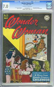 WONDER WOMAN #23 (1947) CGC FN/VF 7.0 OWW Pages - AMELIA EARHART
