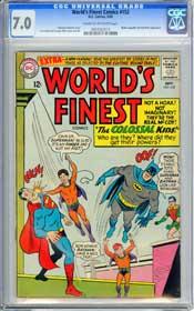 WORLD'S FINEST COMICS #152 (1965) CGC FN/VF 7.0 COW MISTER MXYZPTLK & BAT-MITE