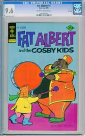 FAT ALBERT #14 (1976) CGC NM+ 9.6 OWW BASS DRUM - FILE COPY - HIGHEST GRADED!